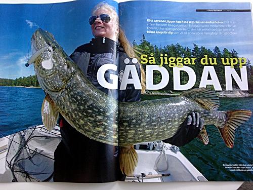 Gäddspecial om jiggfiske med bilder från mina fiskeguidningar!